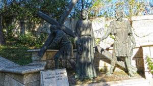 Il Cireneo aiuta Gesù